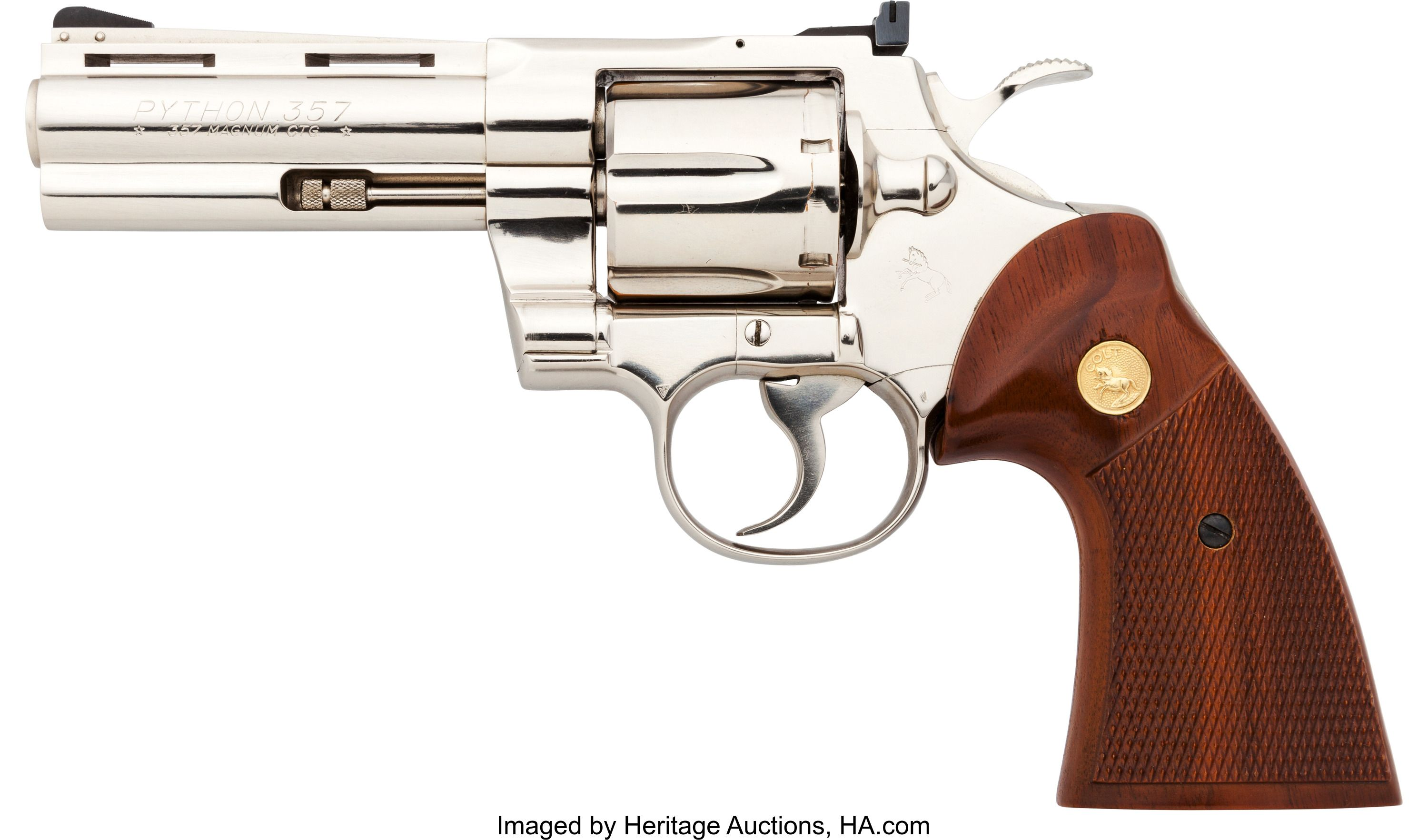 294f0b9981e Colt Python Model Double Action Revolver. Serial no. V36842