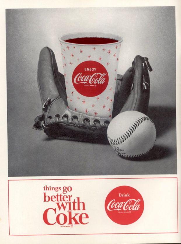 affiche coca cola de 1965 epur e l 39 univers coca cola. Black Bedroom Furniture Sets. Home Design Ideas