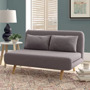"Brayden Studio Demelo Full 52"" Cushion Back Convertible"