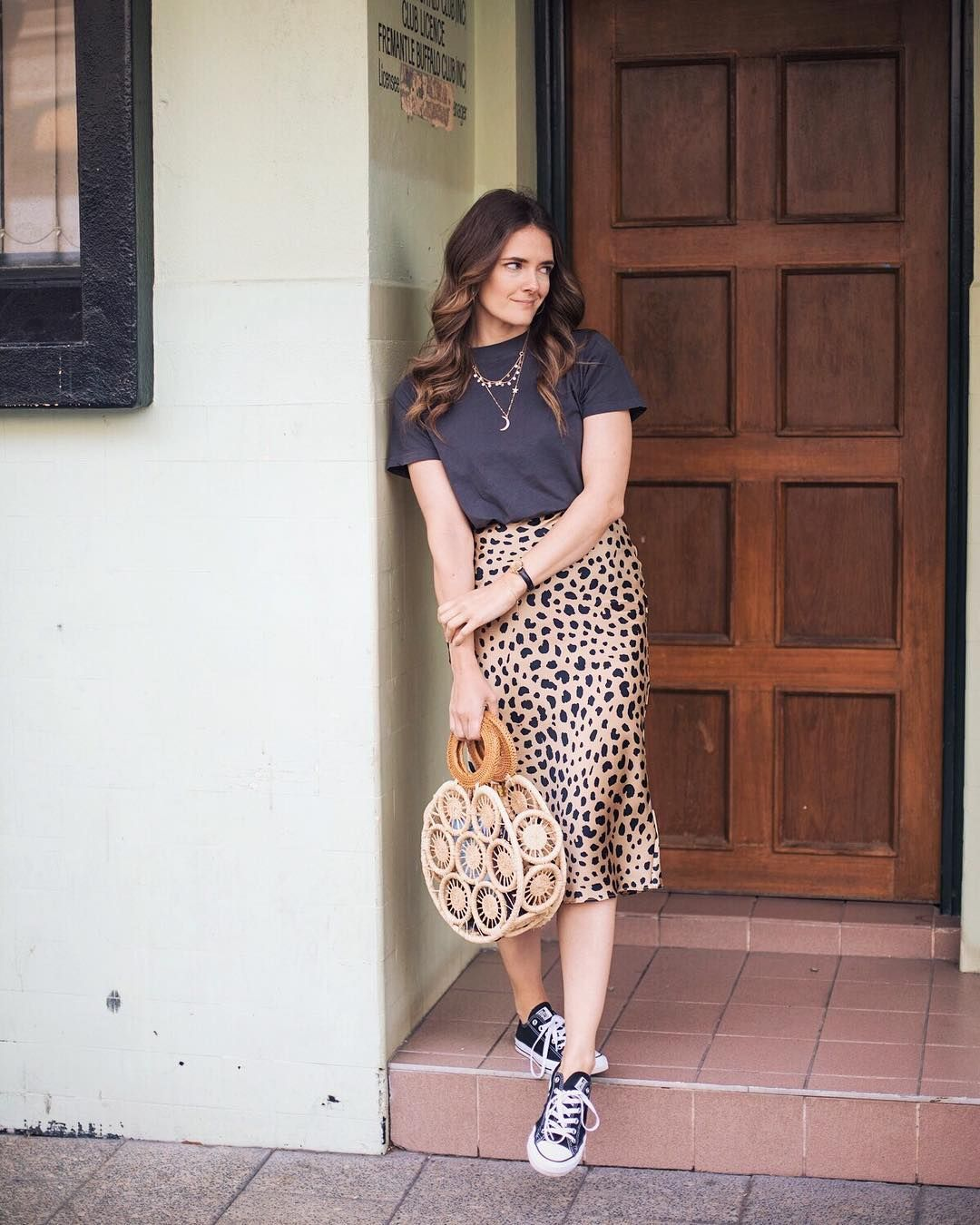 2de037f59a76 Realisation Par The Naomi Wild Things skirt leopard print and Cult Gaia  round bag ( inspiringwit)