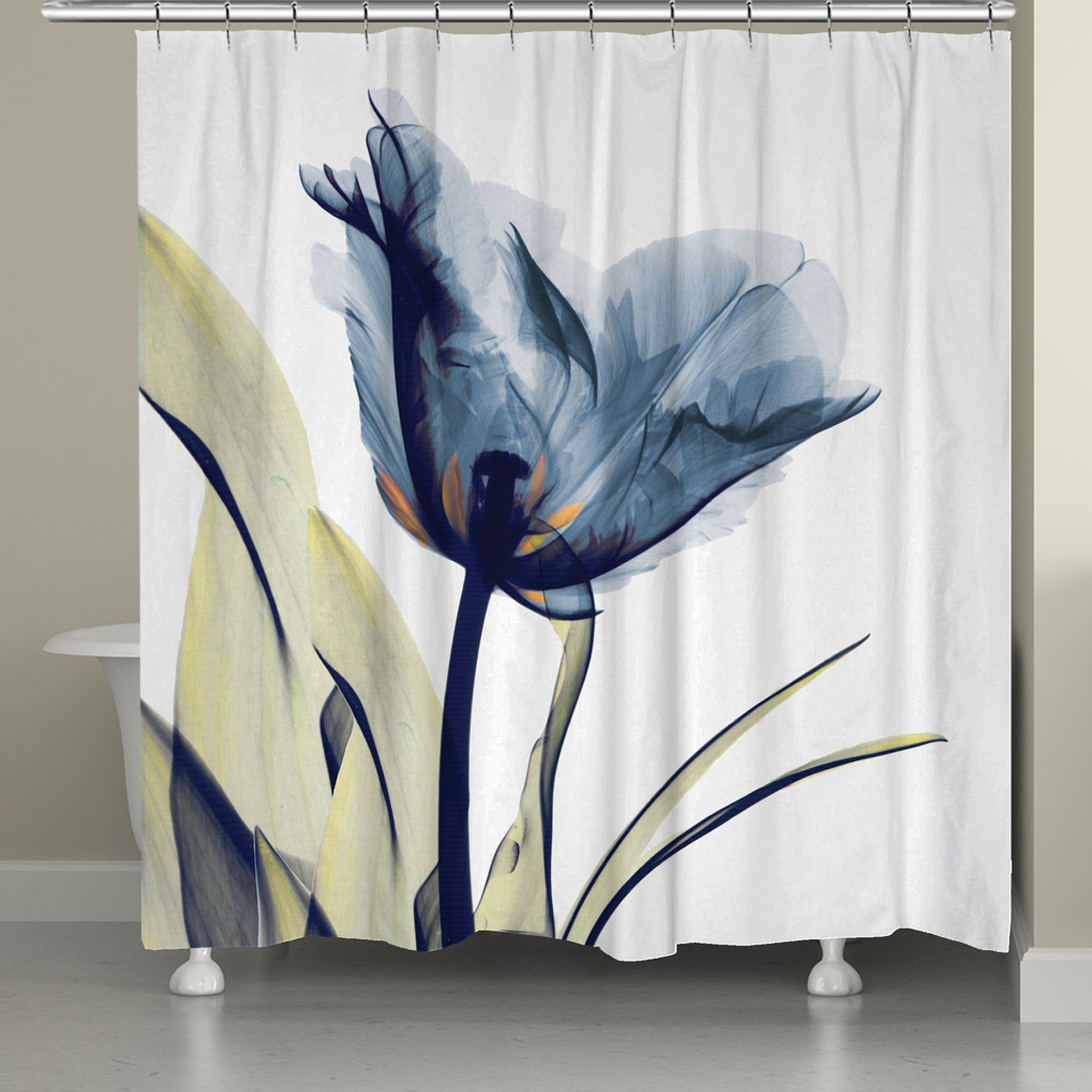 Blue Tulip Shower Curtain Tulip Shower Curtain Curtains Shower