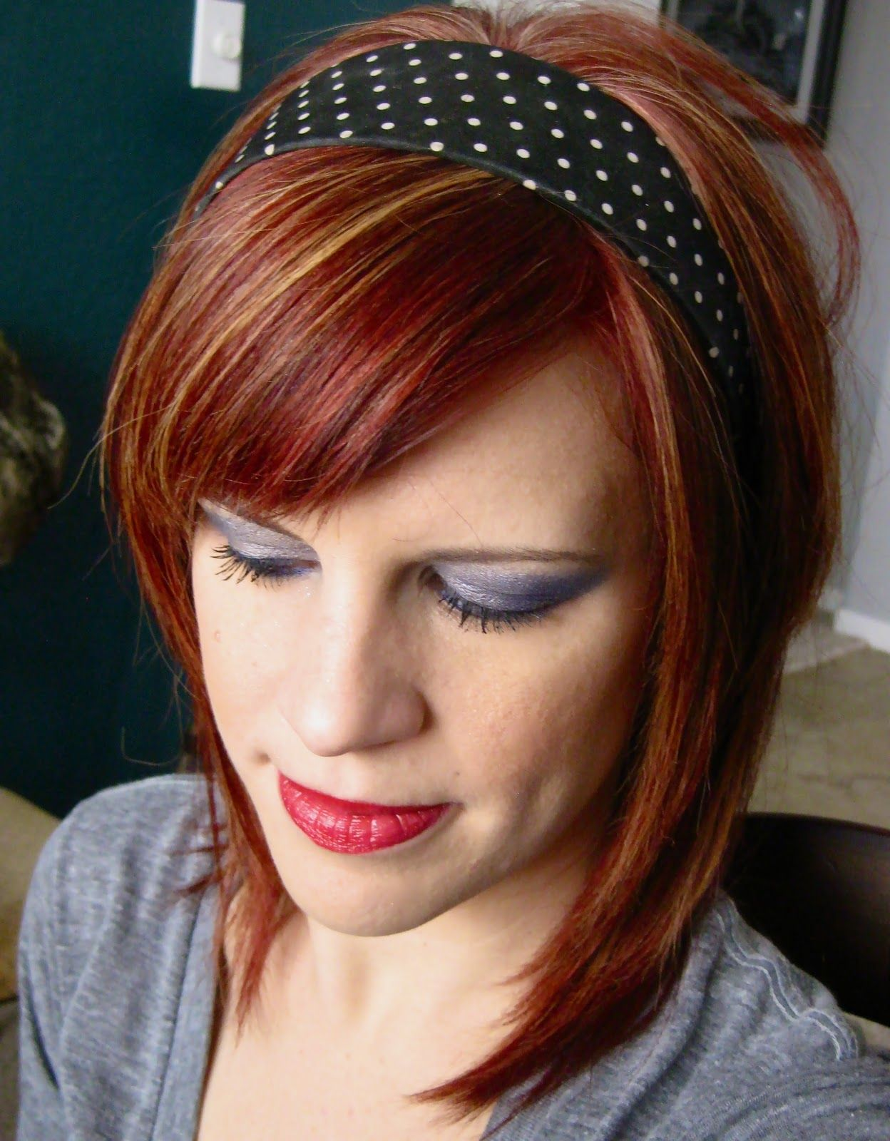 Short Red Hairstyles Red Hair With Highlights  Google Search  Hairhair Fascinations