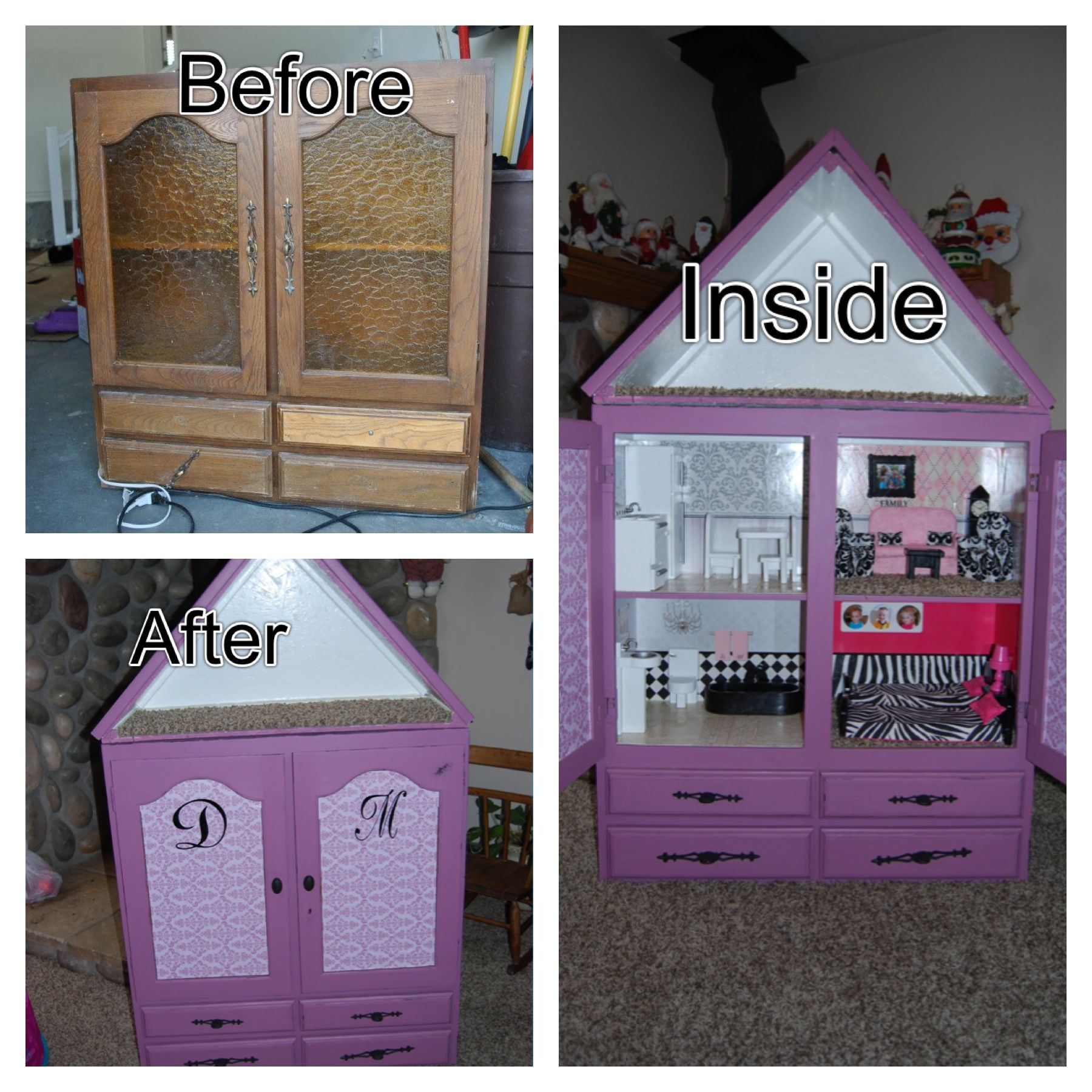 Dollhouse Miniature Furniture Collectible Wardrobe Play House Doll Dream Closet