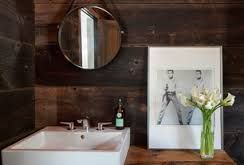powder room with white vessel sink - Google Search
