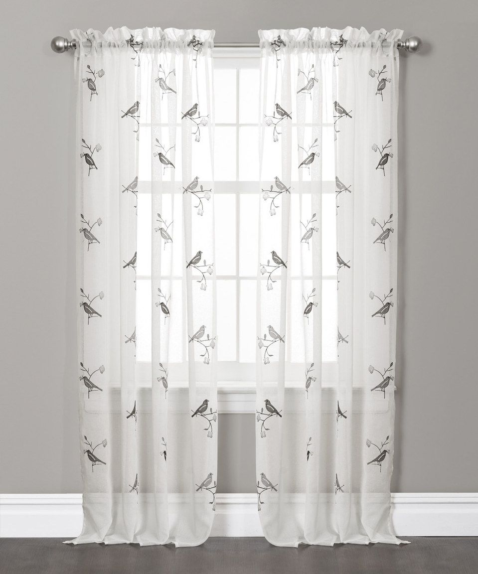 Look at this zulilyfind gray burge curtain panel set of two by