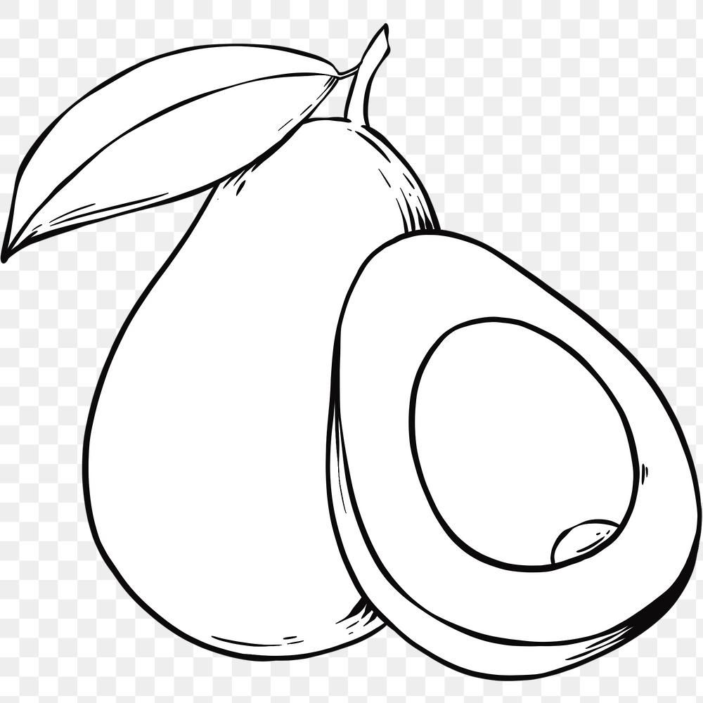 Vintage Hand Drawn Avocado Cartoon Clipart Black And White Free Image By Rawpixel Com Noon In 2021 Cartoon Clip Art Avocado Cartoon Clip Art