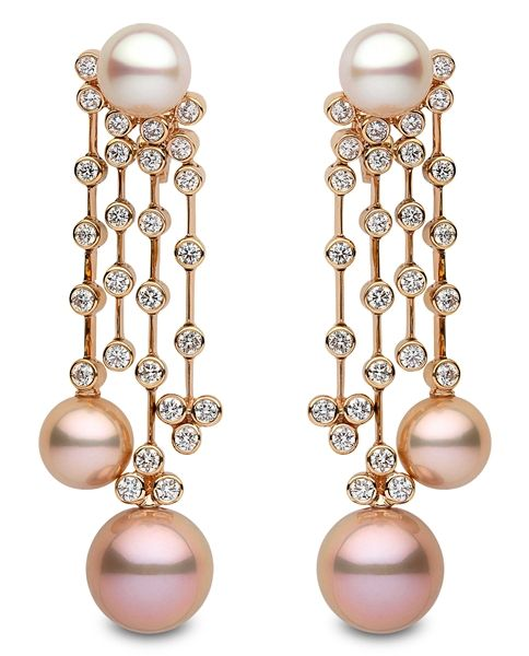 Yoko london pink and white pearl and diamond chandelier earrings yoko london pink and white pearl and diamond chandelier earrings aloadofball Image collections
