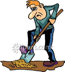 Man Digging with a Shovel - Royalty Free Clipart Picture ...