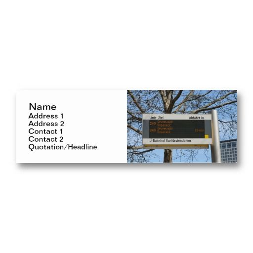 Bus stop sign in berlin business card germany pinterest bus stop sign in berlin business card reheart Gallery