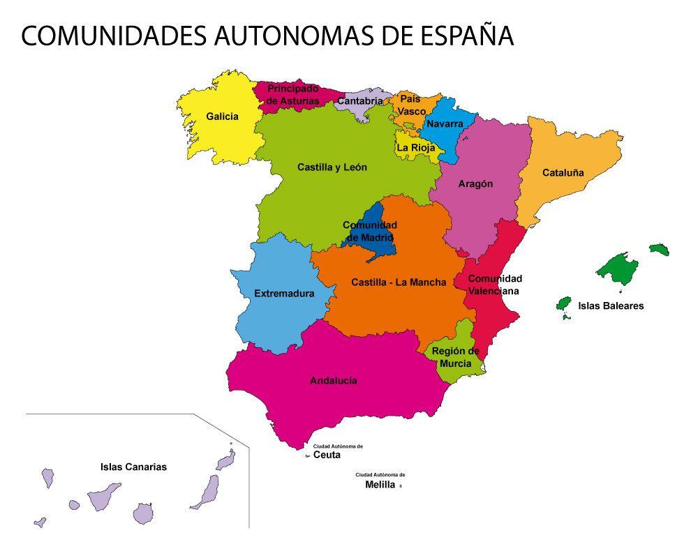 Mapa De Espana Pdf.Mapa De Comunidades Y Provincias De Espana Para Colorear Pdf En 2020 Mapa De Espana Mapas Comunidades Autonomas De Espana