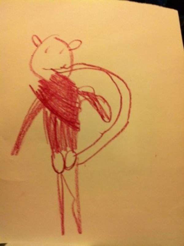 creepy-kids-drawings-animal-tail-funny.jpg 600×804 pixels