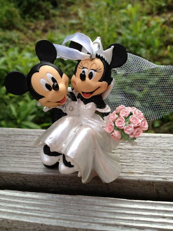 88f0808de5f4 Mickey and Minnie Mouse Wedding Ornament Adorable Bride and Groom ...