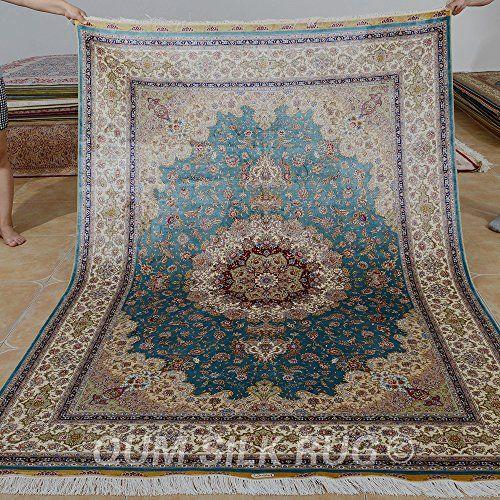 Qum Silk Rug Area Rugs Made In Turkey Handknotted Kashmir Https