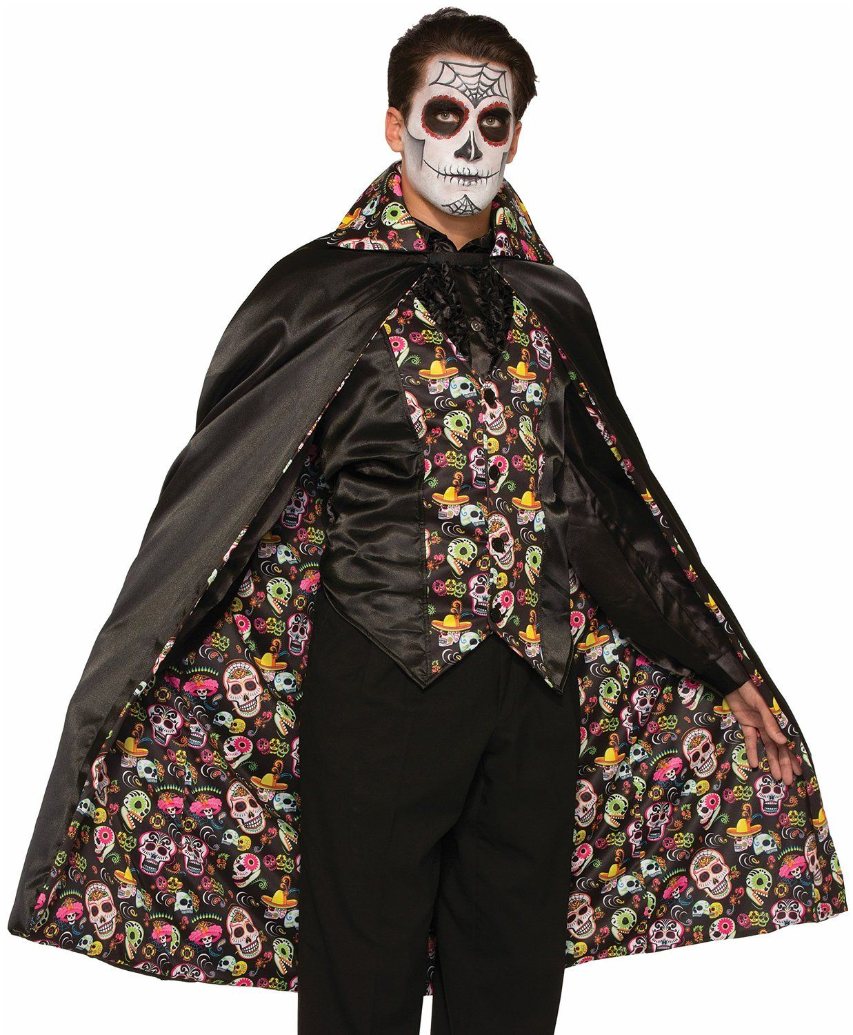 day of the dead cape adult halloween costume - Amazon Halloween Costumes Men