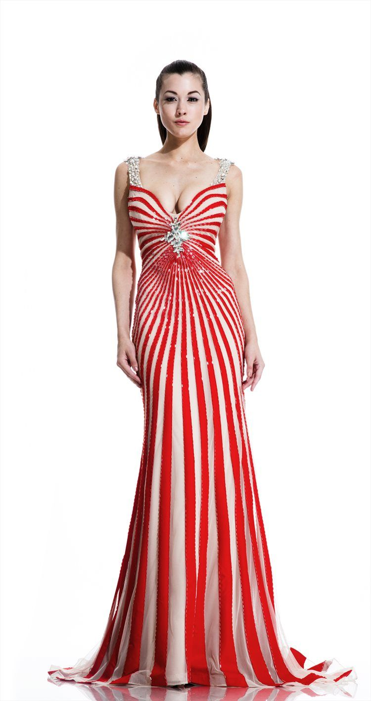 This Johnathan Kayne prom dress gives off a retro glam feeling with ...