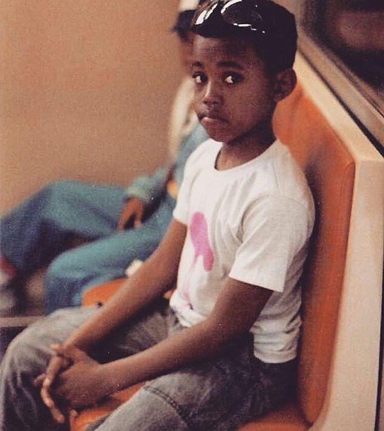 Lil Ye Kanye West Kim And Kanye Childhood Photos