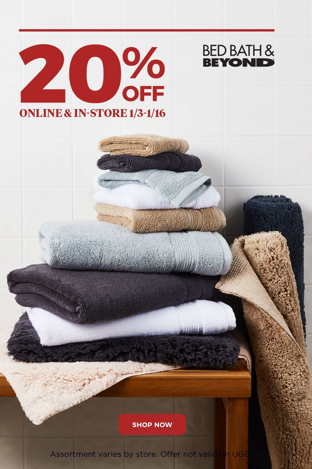 20 Off Entire Stock Of Bath Towels Online And In Store 1 3 1 16