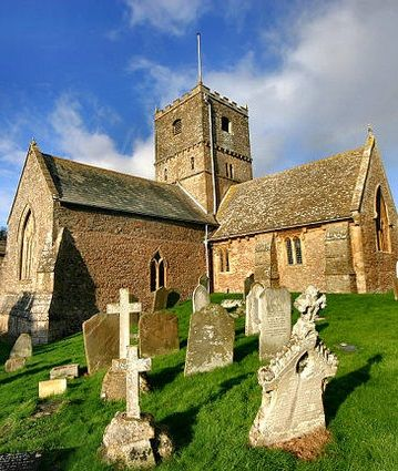 12th century St Andrew's Church, Somerset, England.