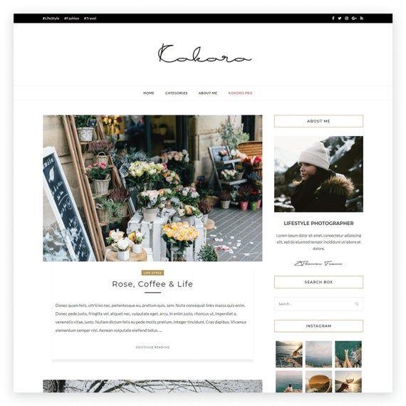 Kokoro- A Clean & Elegant blog theme in 2019 | Products | Wordpress