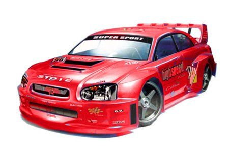 Amazon Com Subaru Wrx Sti Style 1 7 Scale Rtr Nitro Rc Car With
