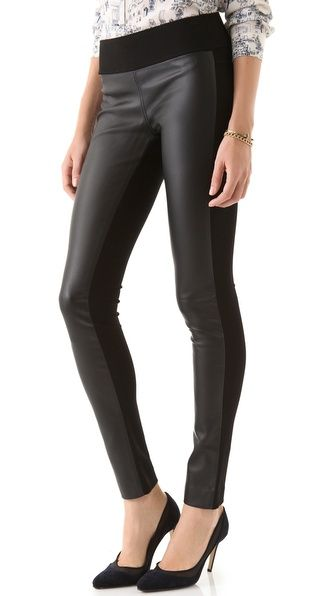 dd33c889b33b0 {Wearin' It} - Club Monaco Tasha Leggings...the perfect leather legging for  us mature fashionistas...thick knit back keeps them figure flattering + ...