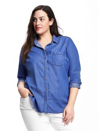 d426531e Classic Chambray Plus-Size Shirt | fashion | Plus size shirts, Women ...