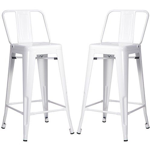 Awesome White Stool with Back