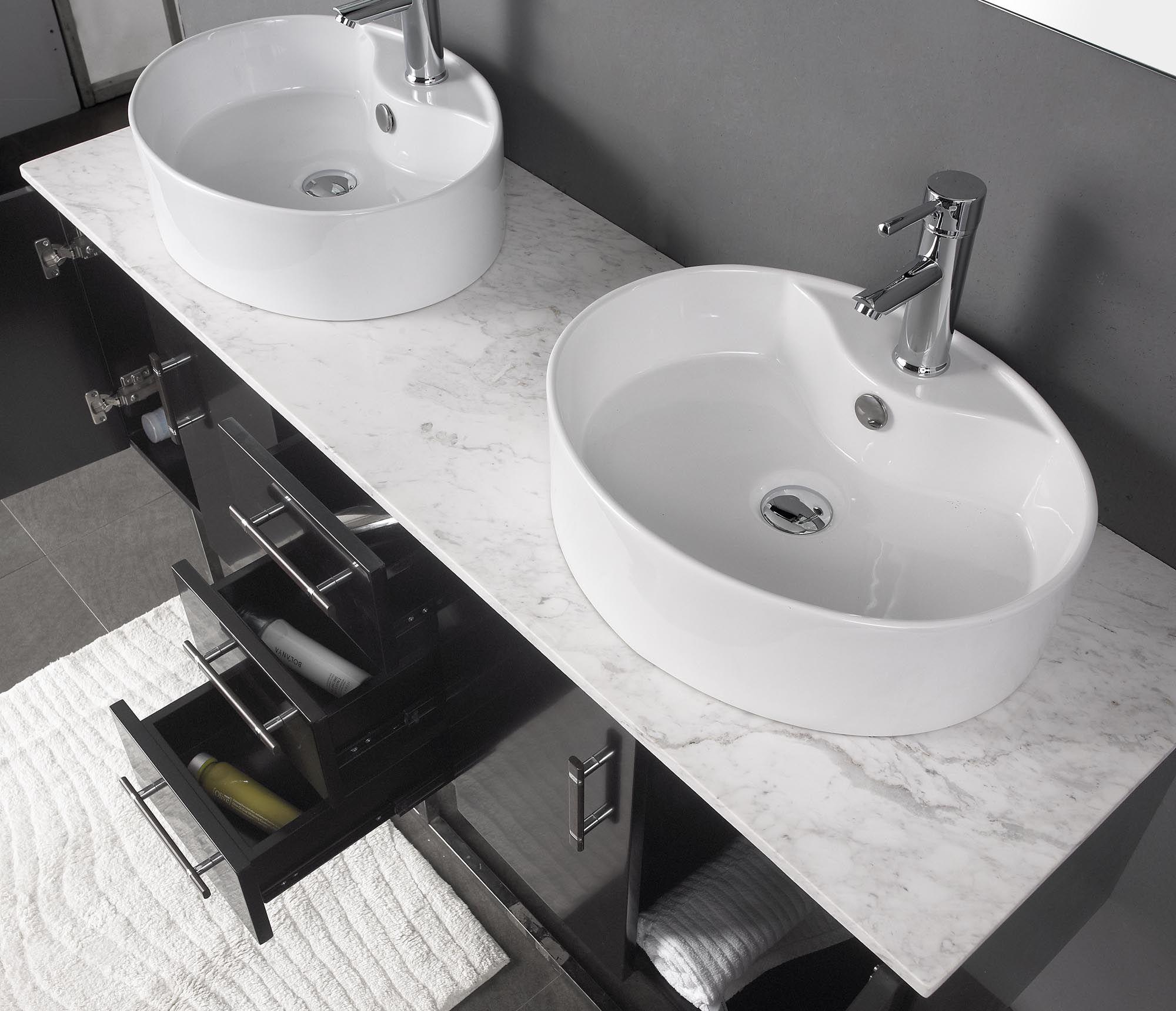 modern marble bathrooms | Milano II Modern Bathroom Vanity Set with ...