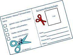 scherenführerschein | portfolio kindergarten, schulideen