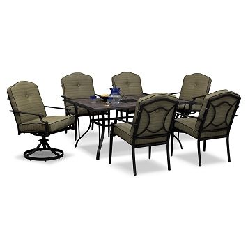 Garrett Outdoor Furniture 7 Pc Patio Dinette Value City Furniture 799 93 Outdoor Furniture