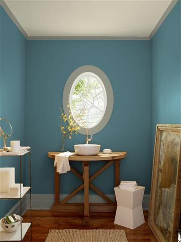 Look At The Paint Color Combination I Created With Benjamin Moore Via Wall Bella Blue 720 Trim Storm Cloud Gray 2140 40 Ceiling