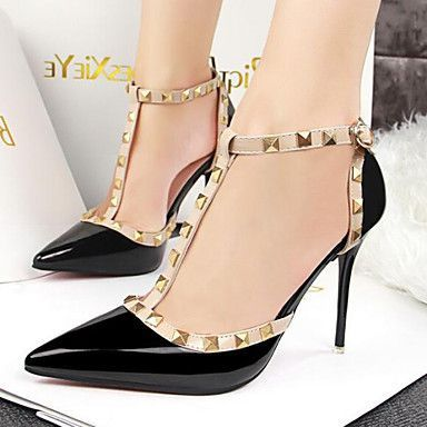 Womens Shoes Fashion Sexy T Shape Pumps Stiletto Heel Comfort  Pointed  Toe Heels Office