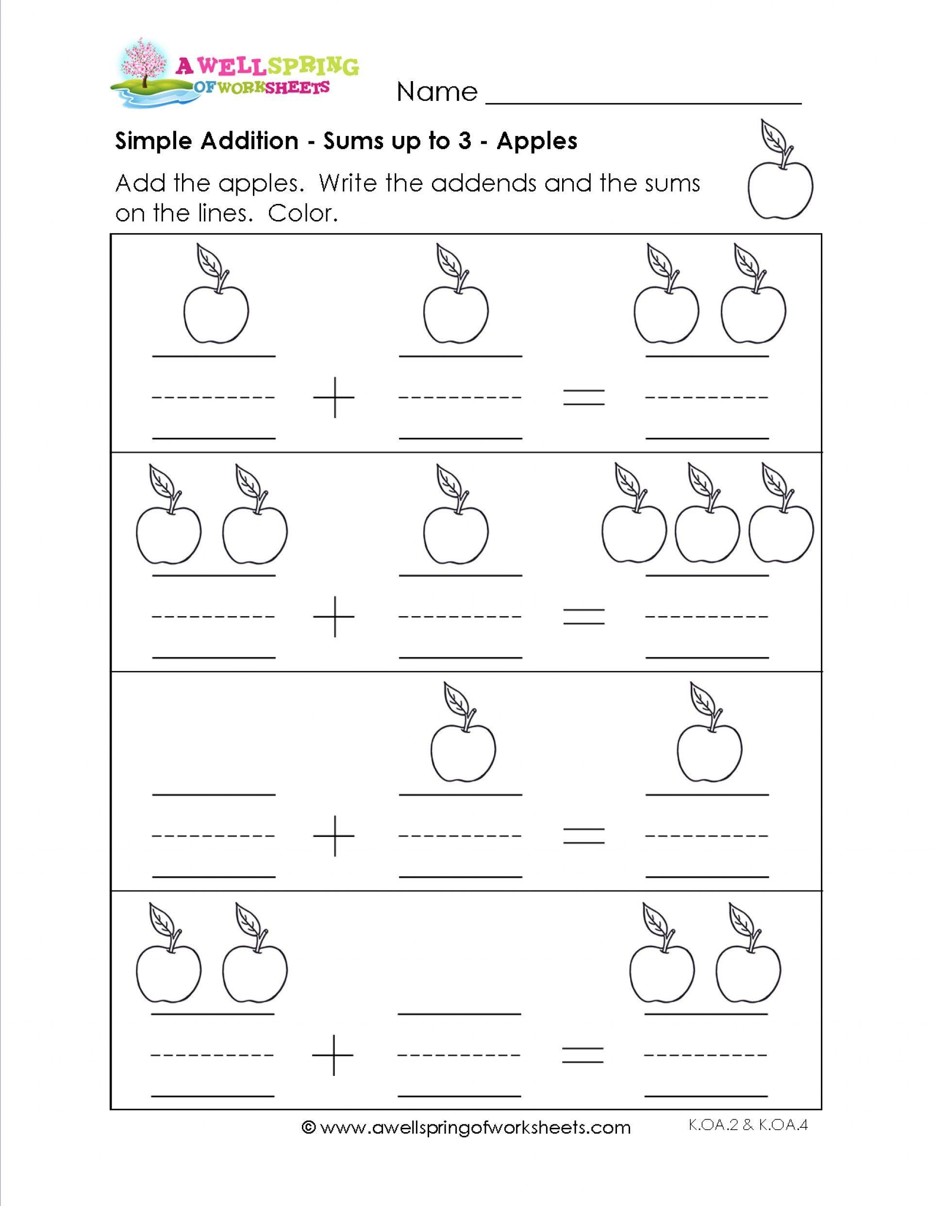 5 Worksheet Pre K Math Worksheets Addition Coloring Book