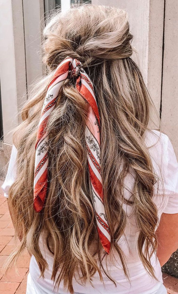 21 Pretty Ways To Wear A Scarf In Your Hair