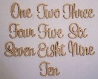 Set of 15 Freestanding wooden table numbers raw events wedding birthday gift