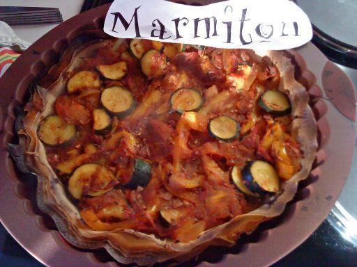 Recette Tarte provençale fine, light, végétarienne, économique, rapide