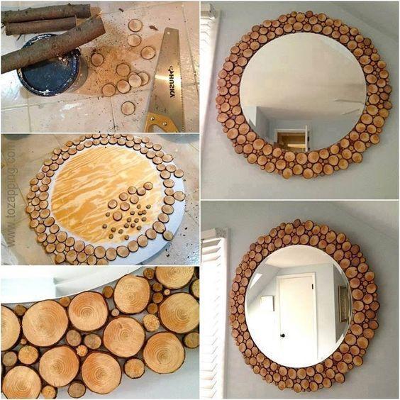 Como Hacer Espejos Hecho De Tronco Tozappingcom Wood Craft