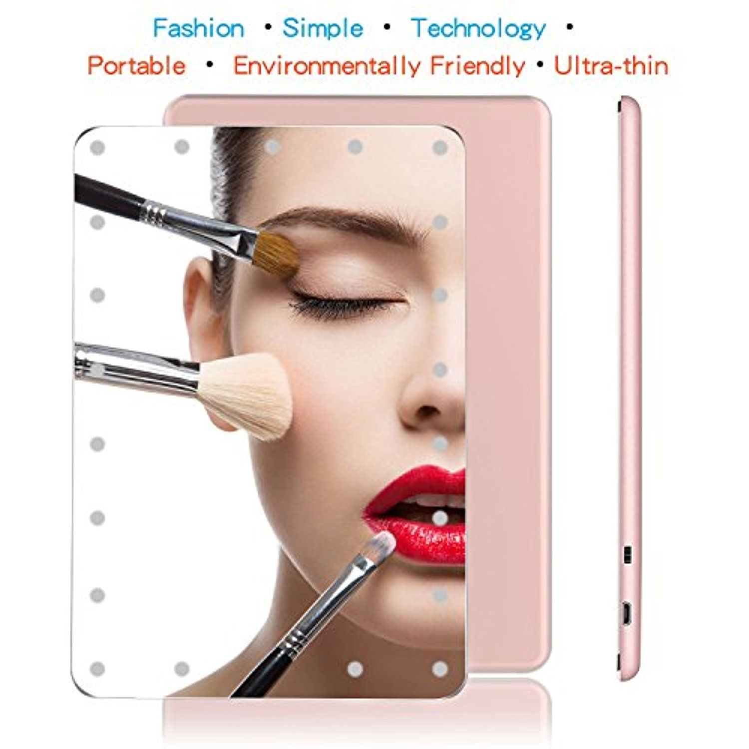 Makeup Mirror with Lights, Hollywood Compact Travel Vanity