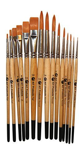 Oil Acrylic Watercolor Fine Art Set Of 15 Paint Brushes Best