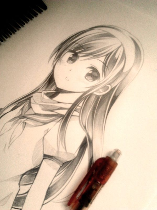 40 amazing anime drawings and manga faces manga for Amazing drawings of girls
