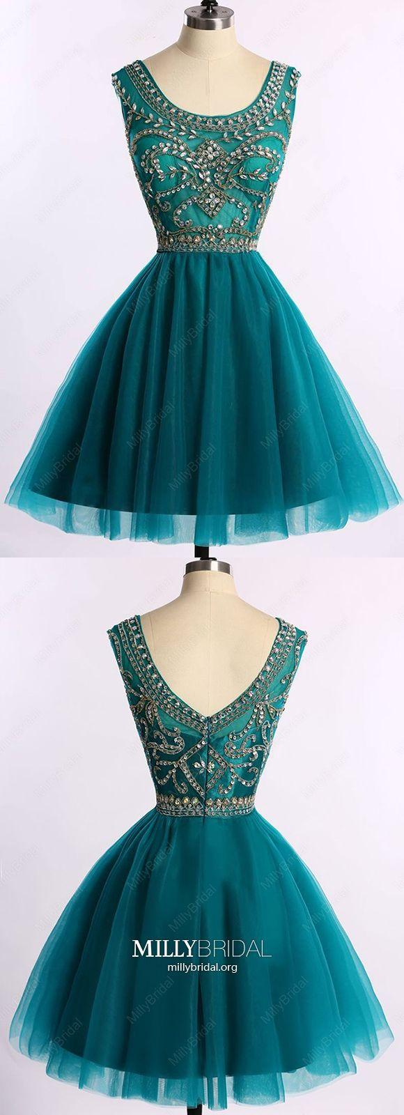 Dark green homecoming dresses short modest prom dresses sparkly