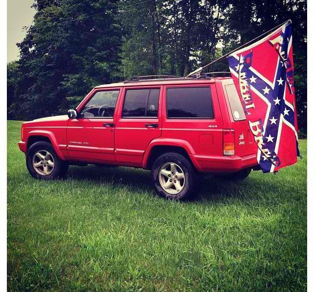 Homemade Flag Mount On The Ole Jeep Jeep Jeep 4x4 Jeep Life