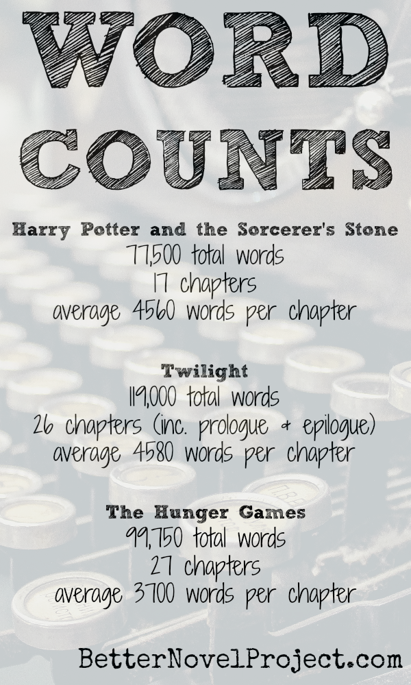 Word Counts Of Harry Potter Twilight Writing Words Writing A Book Words