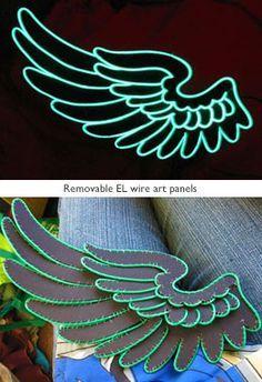 Removable-EL-wire-art-panels   ideas   Pinterest   Wire art