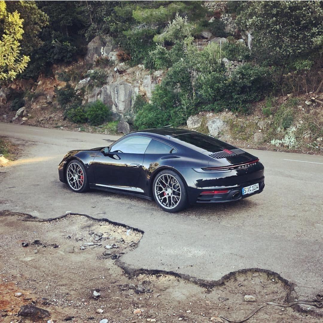Luxury Cars Porsche Cars Black Porsche: Black Beauty #porsche #992 #carrera4S
