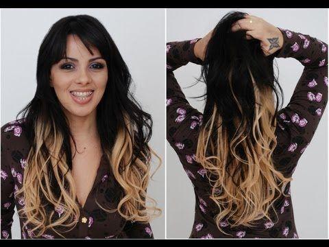 Mega Hair Tic Tac Ombre Hair Antes E Depois Hair Ombre Hair E Ombre