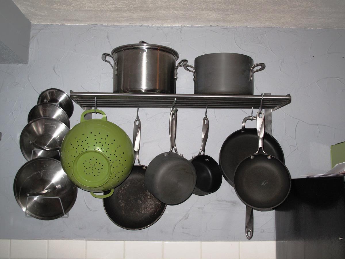 Pot Rack Design Ideas | Pot rack, Ikea rack, Kitchen pot