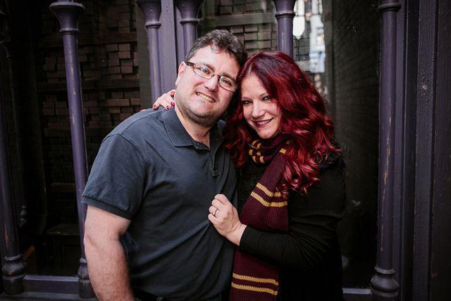 Veronica + John's Harry Potter Themed Engagement | When Geeks Wed | Bloglovin'