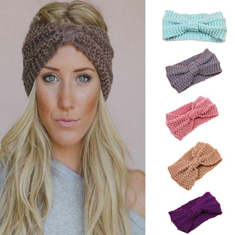 Frauen Knit Stirnband Häkeln Winter Warme Dame Haarband Haarreif ...