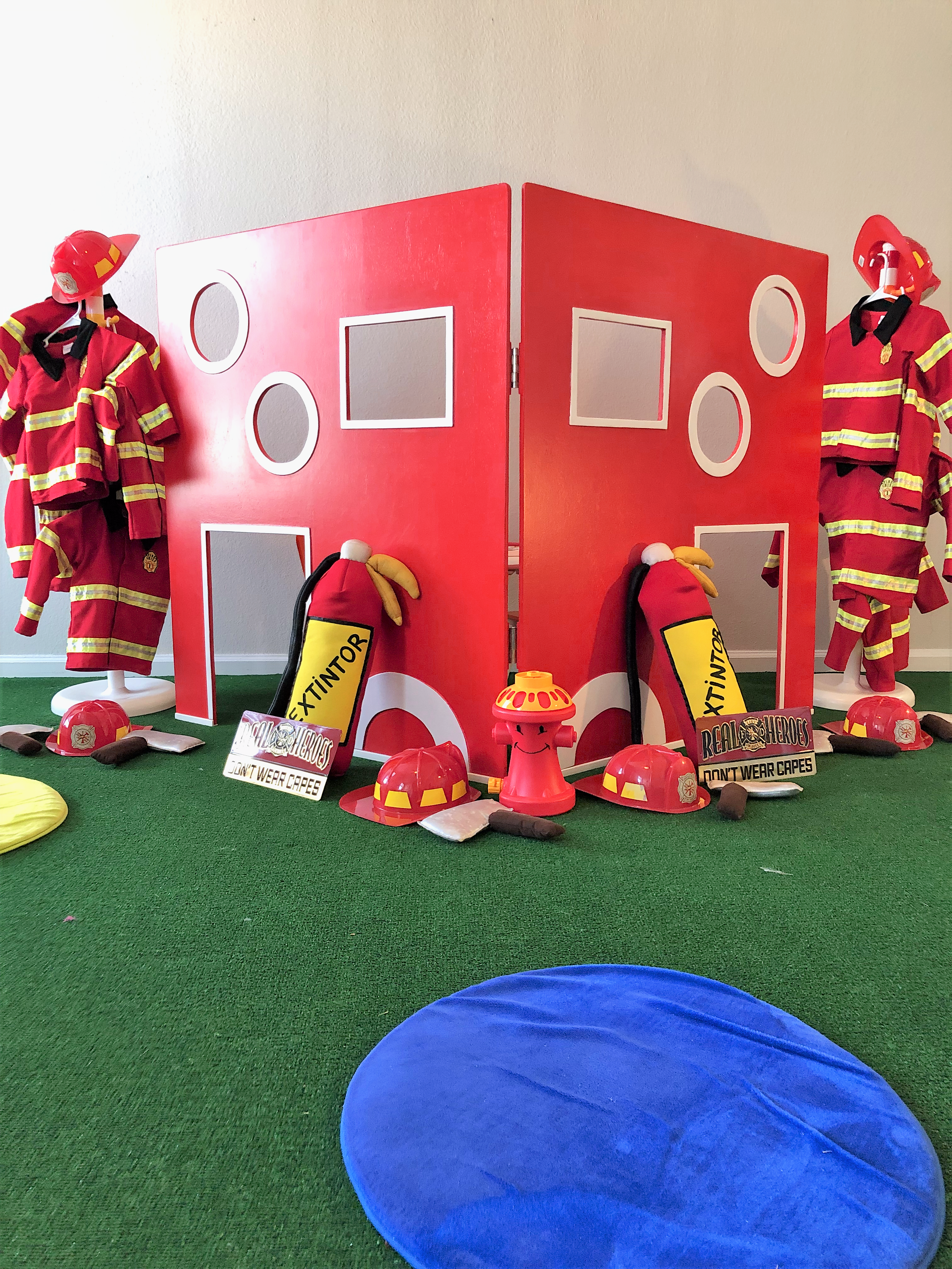 Our Fire Station Setup Axes Helmets And Suits Are Ready To